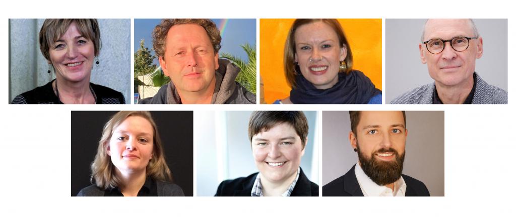 von oben links: Prof.in Dr. Marianne Friese, Prof Dr. Ulf Schrader, Lena Bachmann, Dr. Rüdiger Schnause, Christin Richter, Stephanie Faase, Roland Mevißen