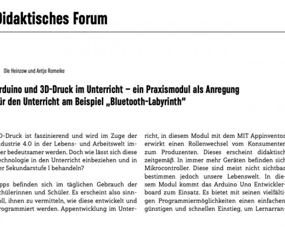 """""""Arduino und 3D-Druck im Unterricht"""" und """"Der digitale Werkzeugkasten"""""""